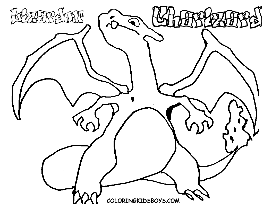 pokemon printable coloring pages - free printable pokemon charizad