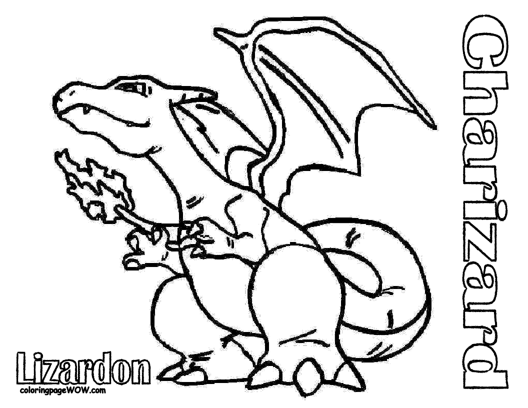 "Pokemon Printable Coloring Pages - Free Printable Pokemon "" Charizad "" Coloring Pages"