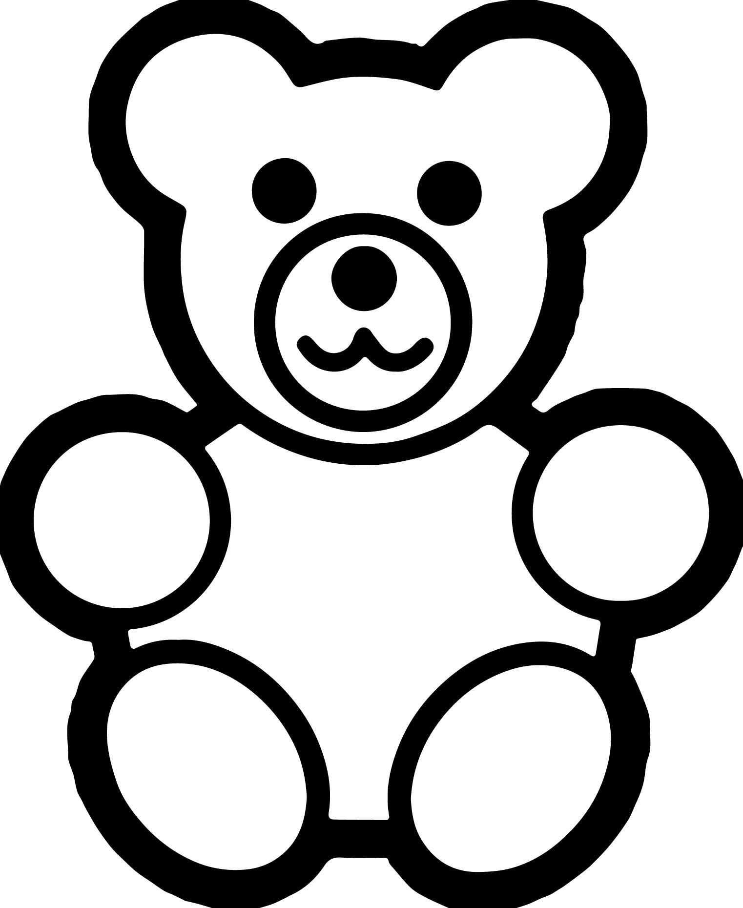 polar bear coloring pages - gingerbread bear coloring page