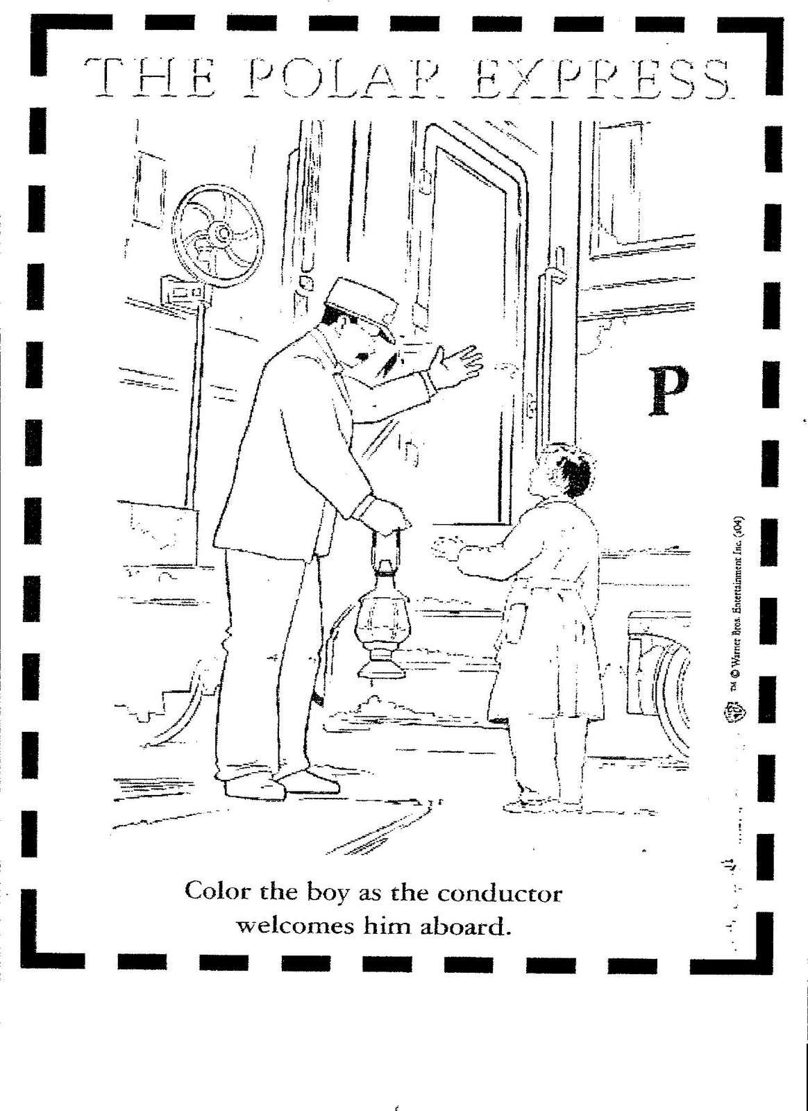 polar express coloring pages - polar express day