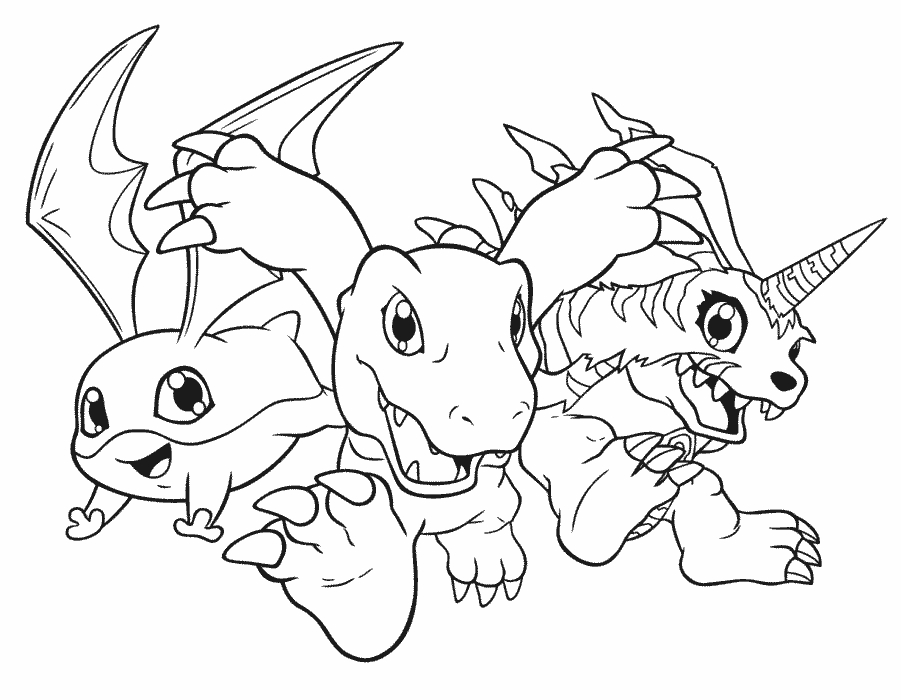 pony coloring pages - digimon coloring pages printable