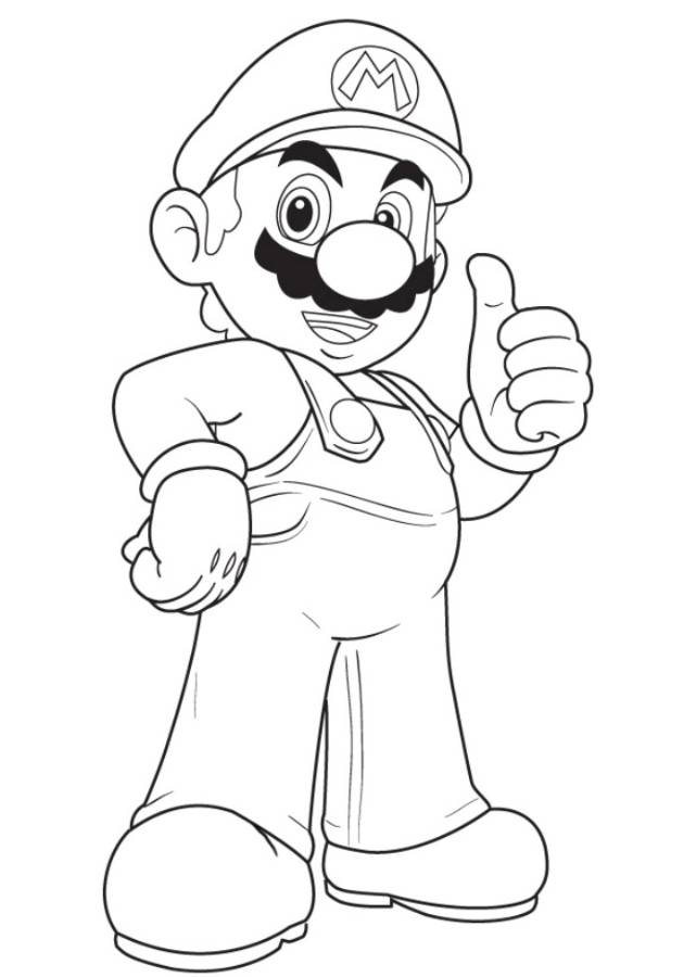 pony coloring pages - mario party coloring pages