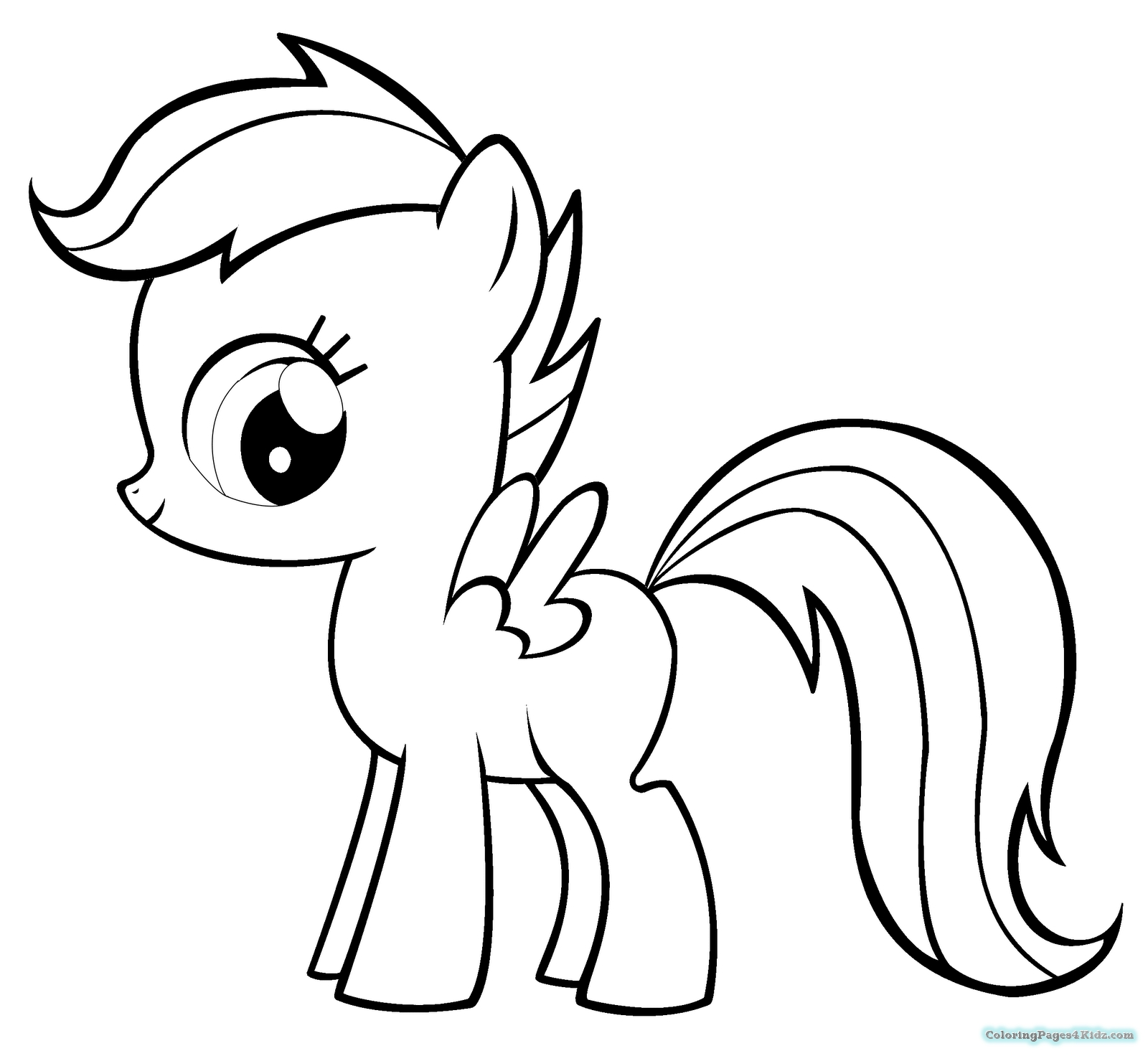 Pony Coloring Pages - My Little Pony Apple Bloom Coloring Pages