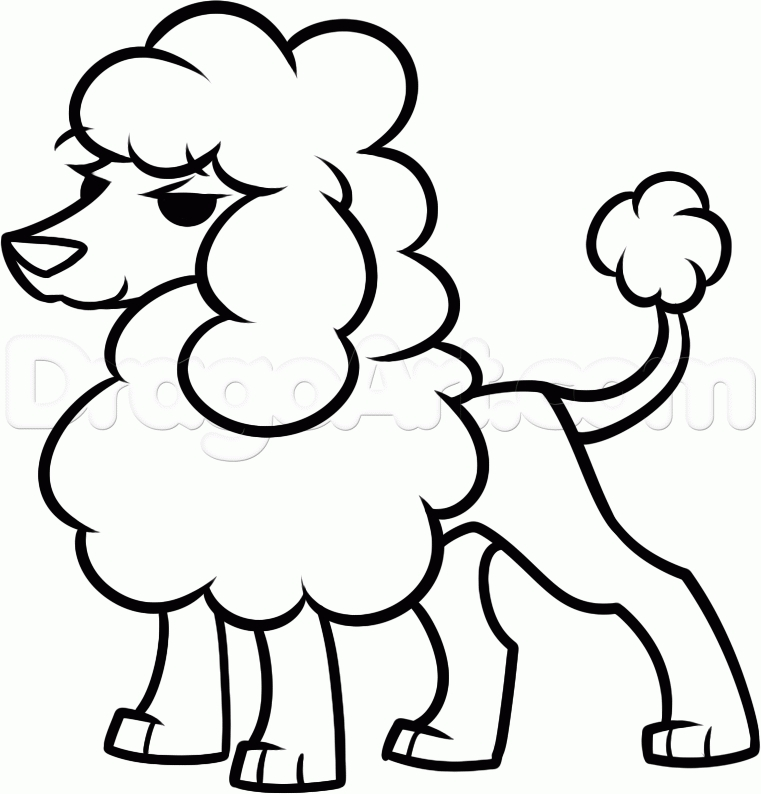 poodle coloring pages - poodle pictures to color