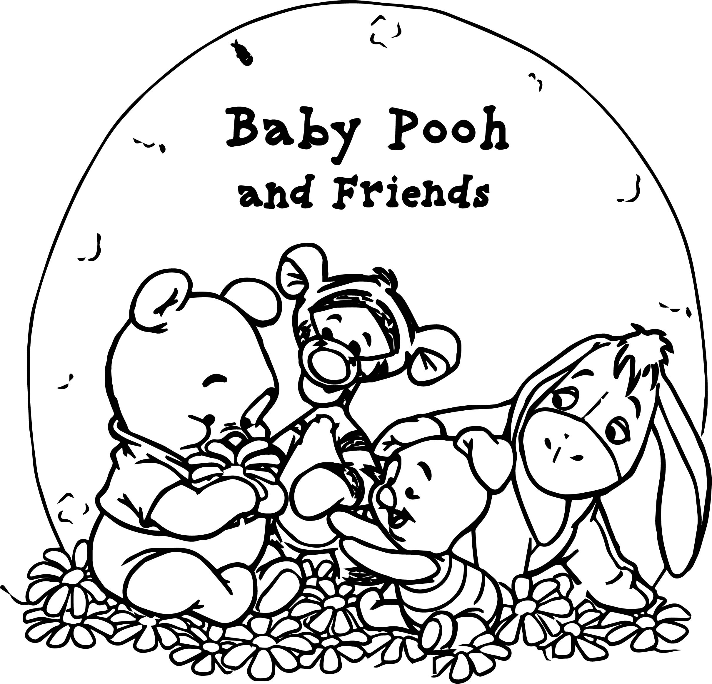 pooh bear coloring pages - pooh bear baby pooh coloring page