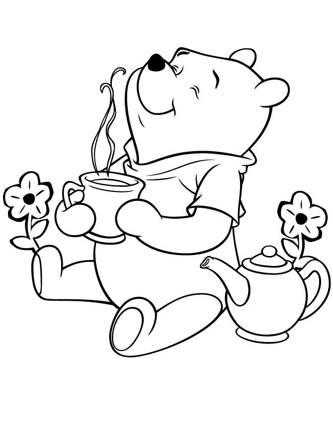 pooh bear coloring pages - pooh bear coloring pages hearts sketch templates