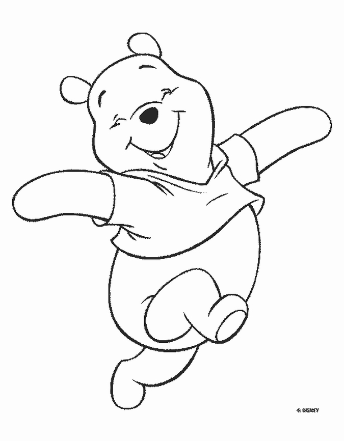 pooh bear coloring pages - winnie pooh bear coloring pages