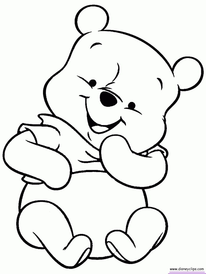 pooh coloring pages - coloring pages of baby winnie the pooh