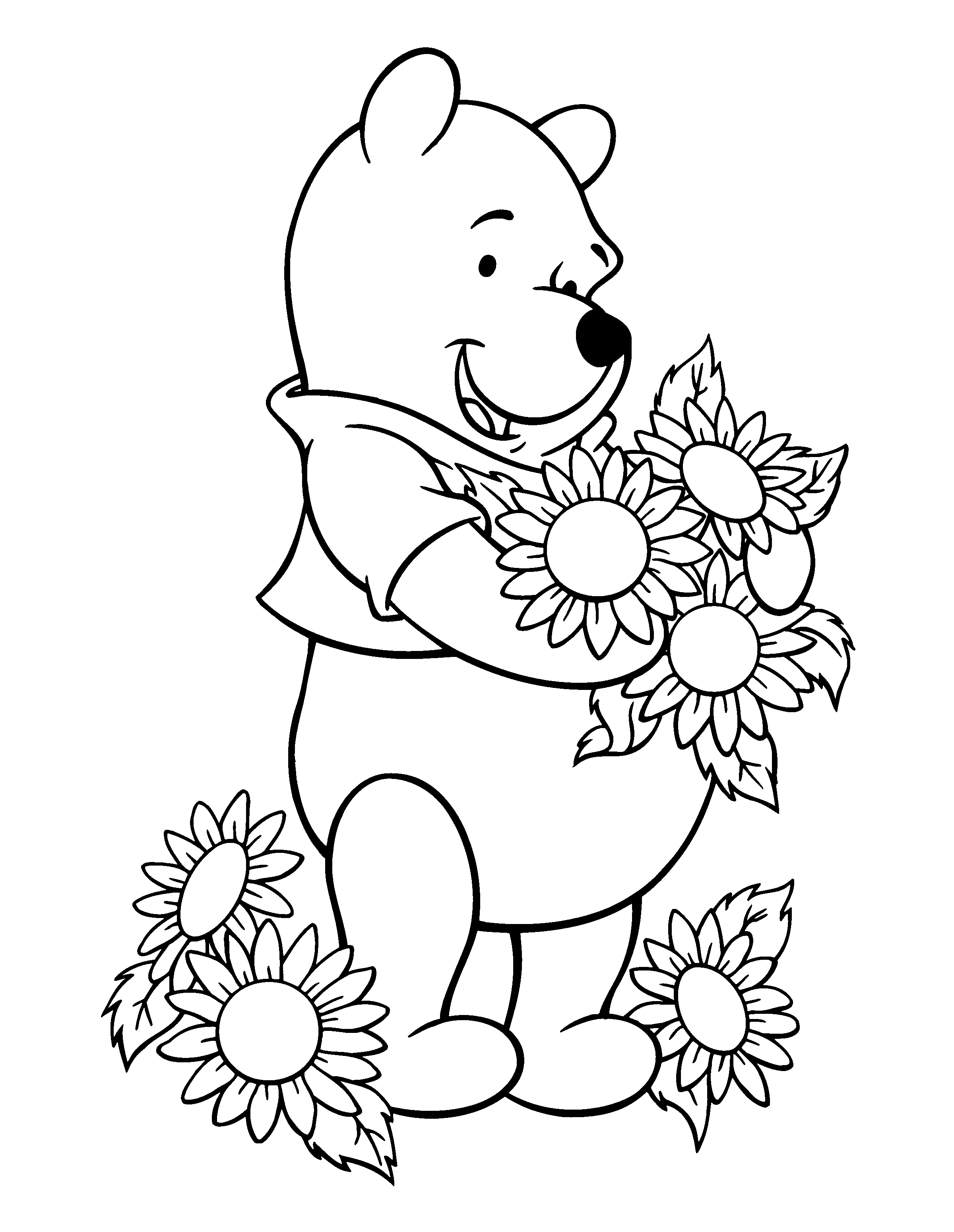 pooh coloring pages - winnie the pooh coloring pages
