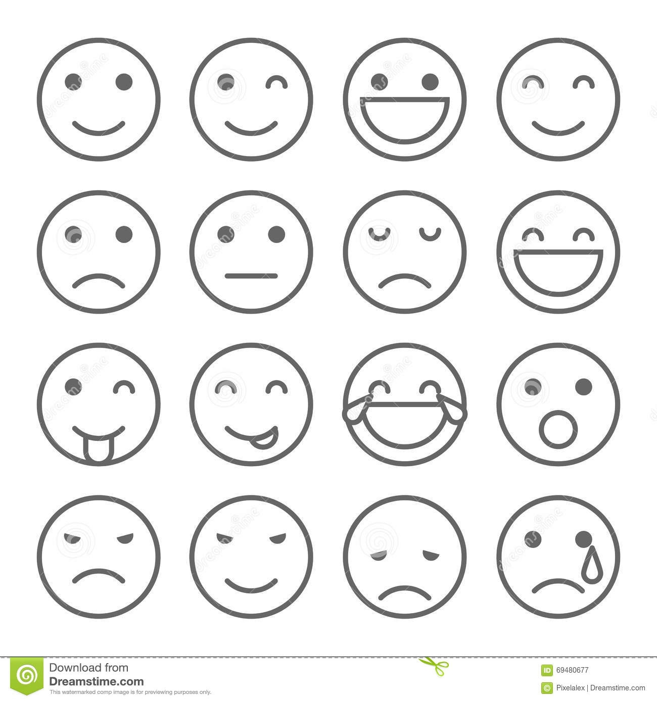 poop coloring pages - stock illustration emoji faces simple icons set emoticons illustrations image