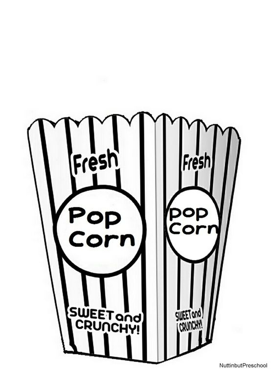 popcorn coloring page -