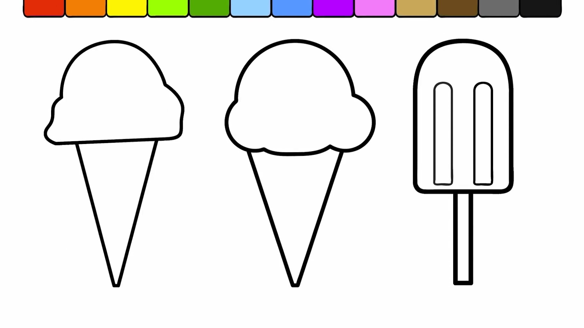 popsicle coloring page - watch v=gBRBMeJIEno
