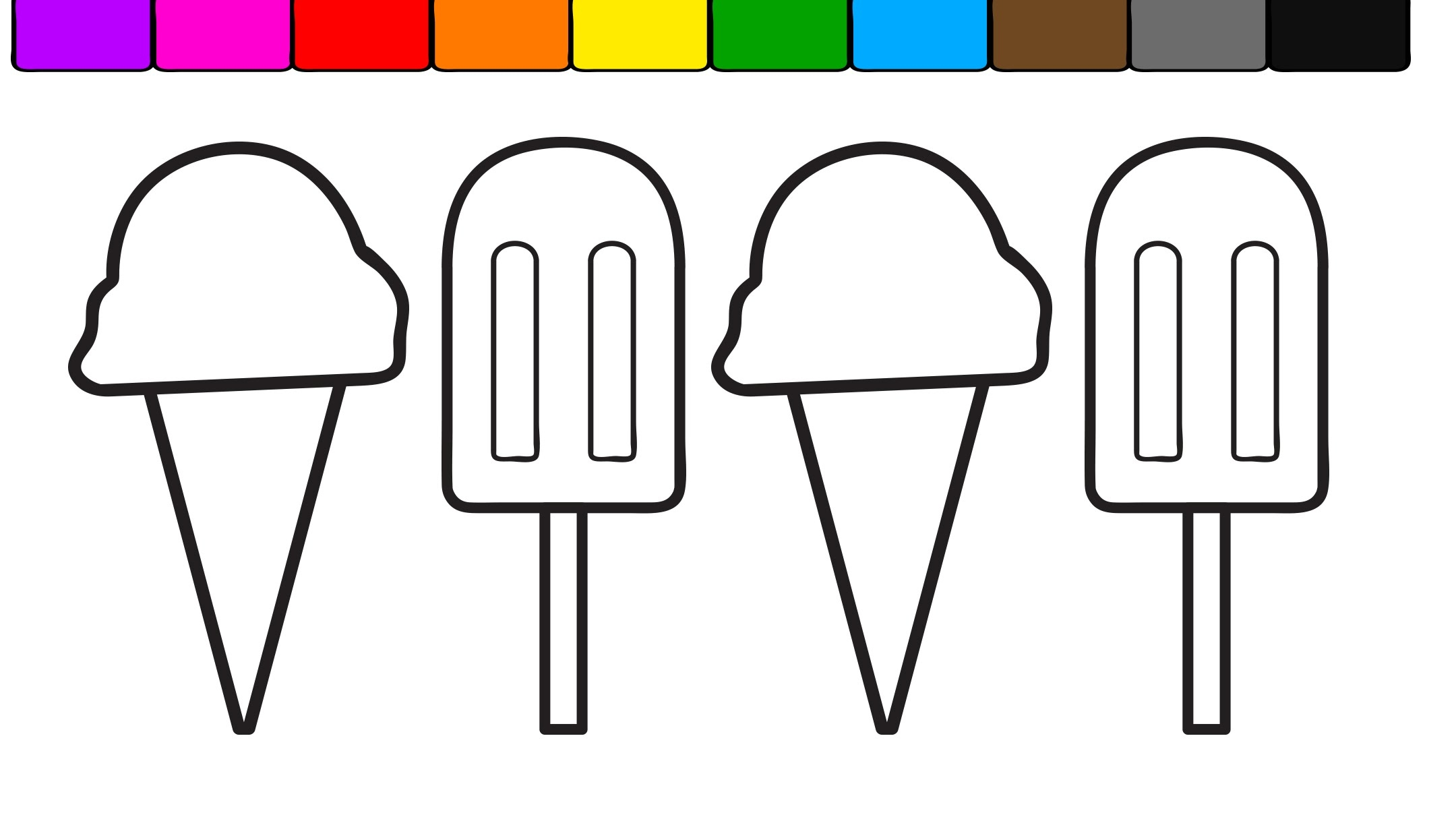popsicle coloring page - watch v=erisrxwKGMM
