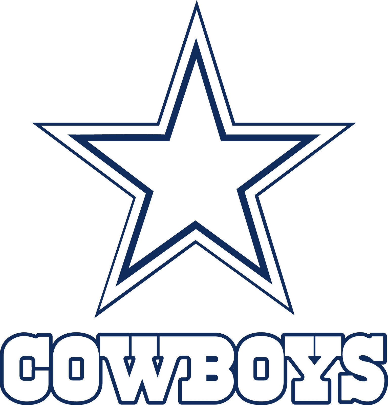 popular coloring pages - dallas cowboys logo clip art