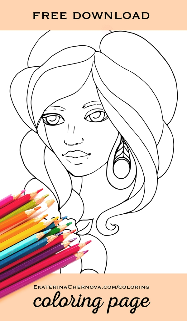 Portrait Coloring Pages - Portrait Coloring Page Printable Coloring Books for Adults