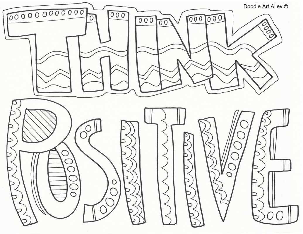 positive coloring pages - attitude coloring pages