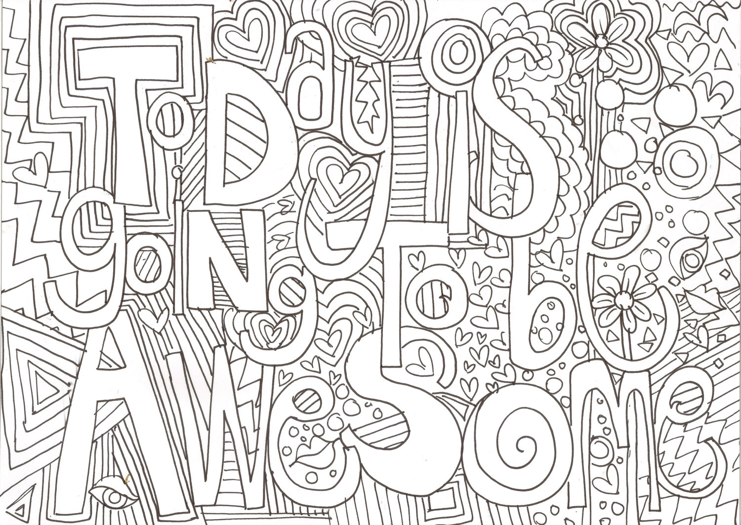 positive coloring pages - colouring page today is going to be