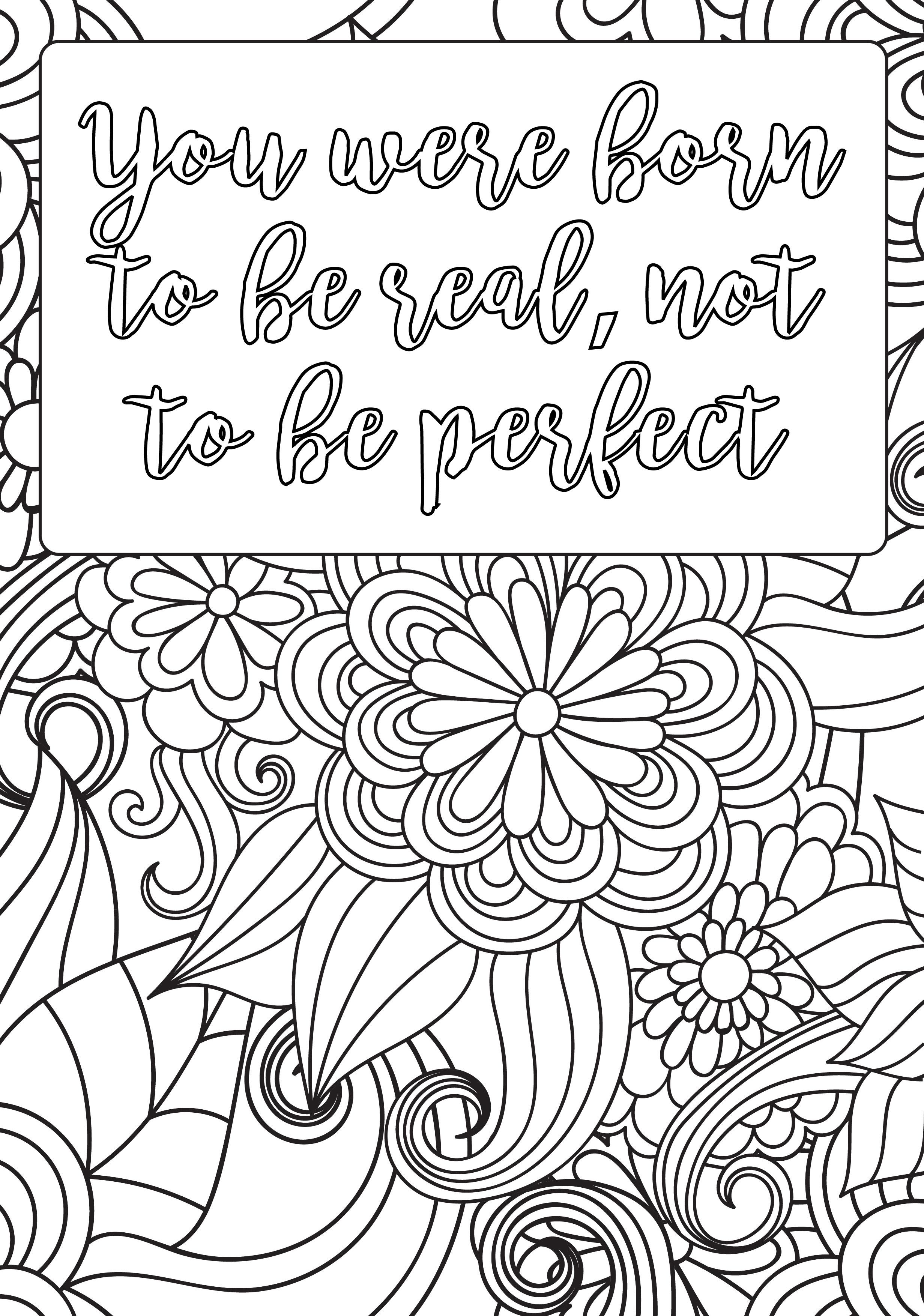 positive coloring pages - positive affirmation coloring pages