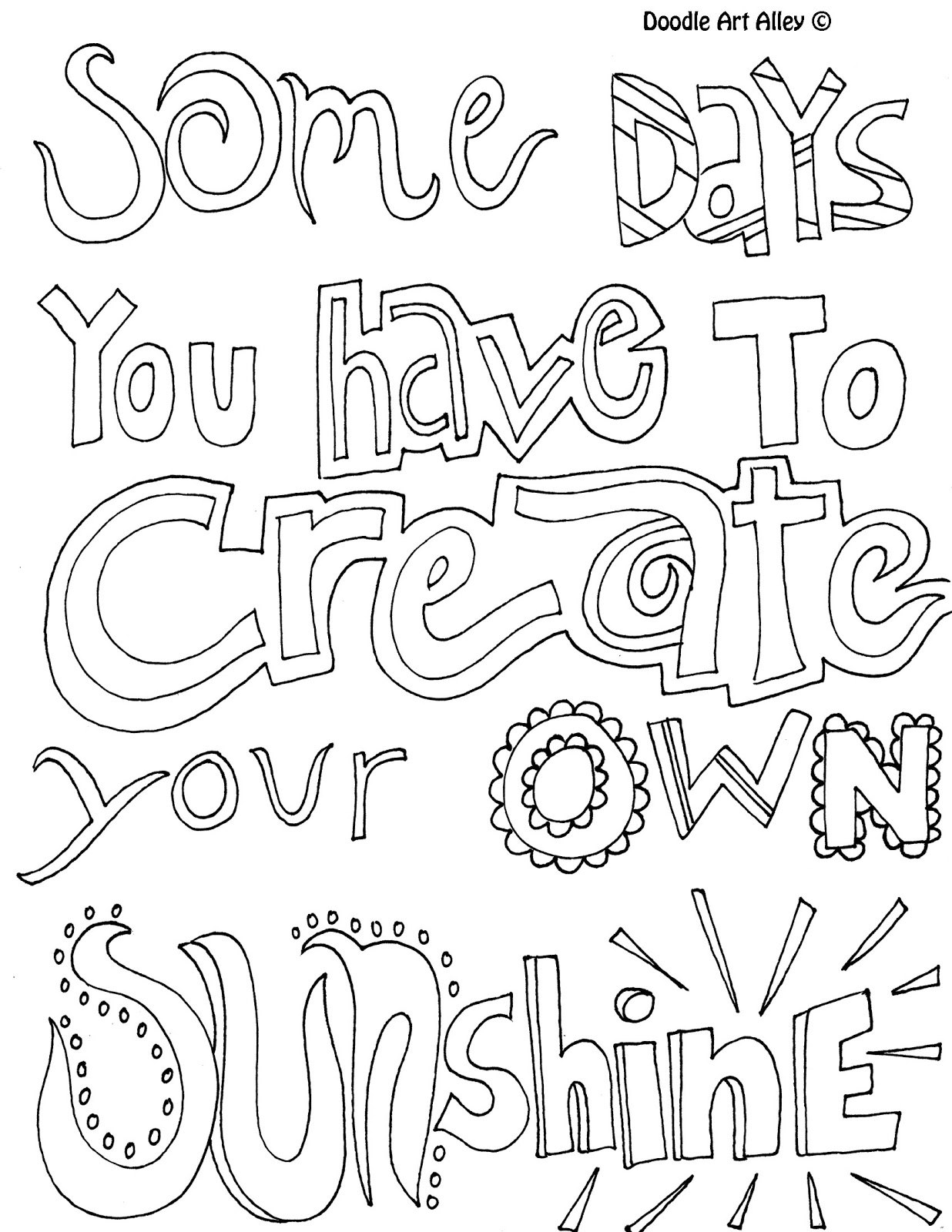 positive coloring pages - positive quotes coloring pages