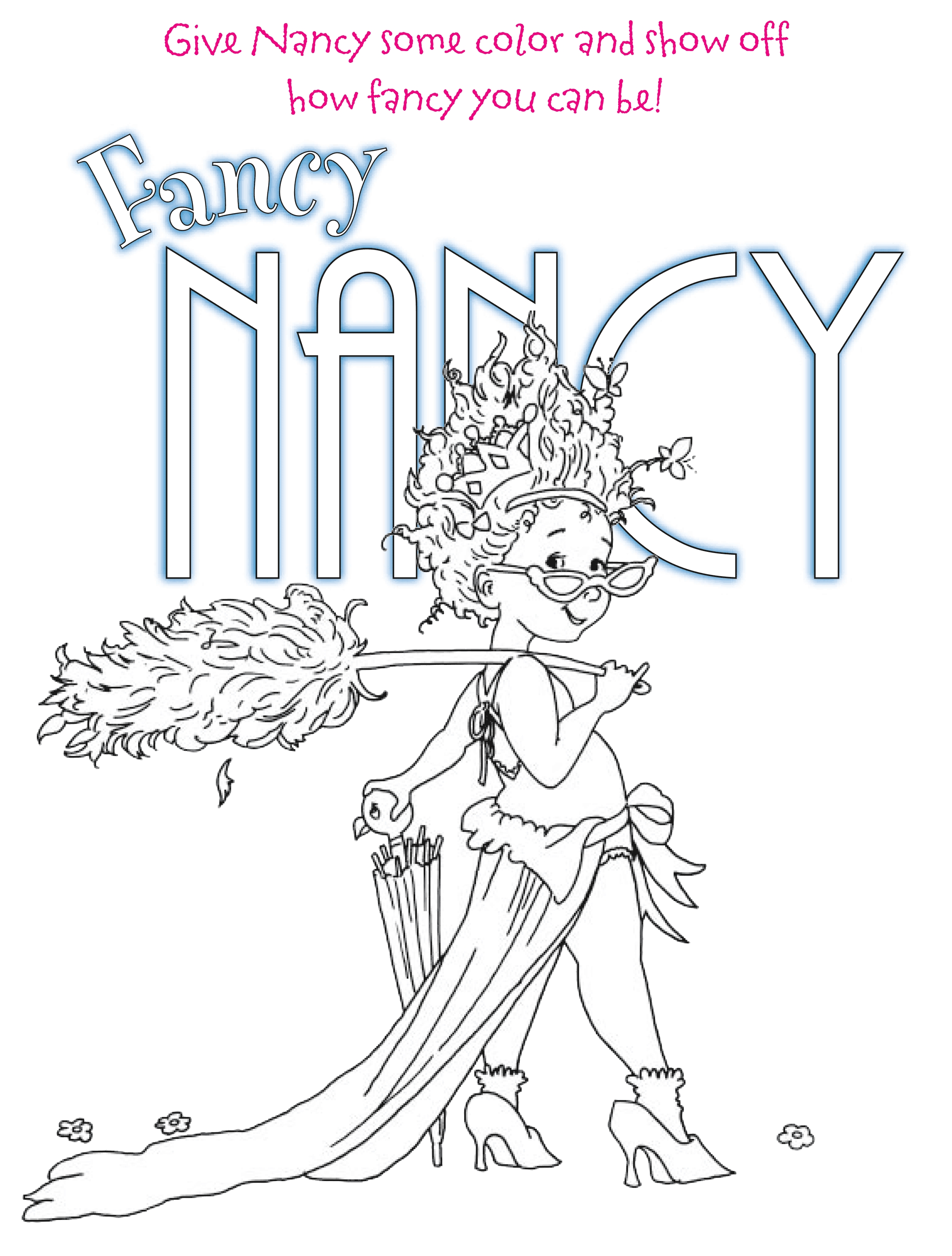 pot of gold coloring page - fancy nancy coloring pages