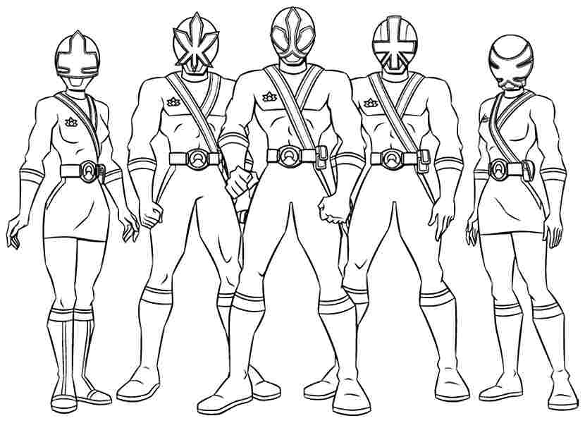 power rangers coloring pages - power ranger color pages