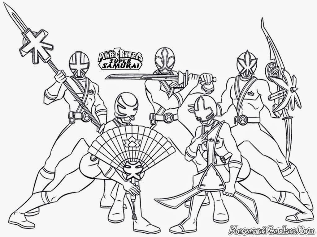 power rangers dino charge coloring pages - gambar power rangers samurai