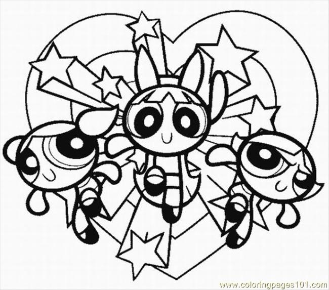 powerpuff girls coloring pages - Powerpuff Girls3