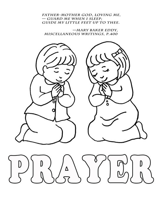 Prayer Coloring Pages - Children Praying Coloring Page Coloring Home