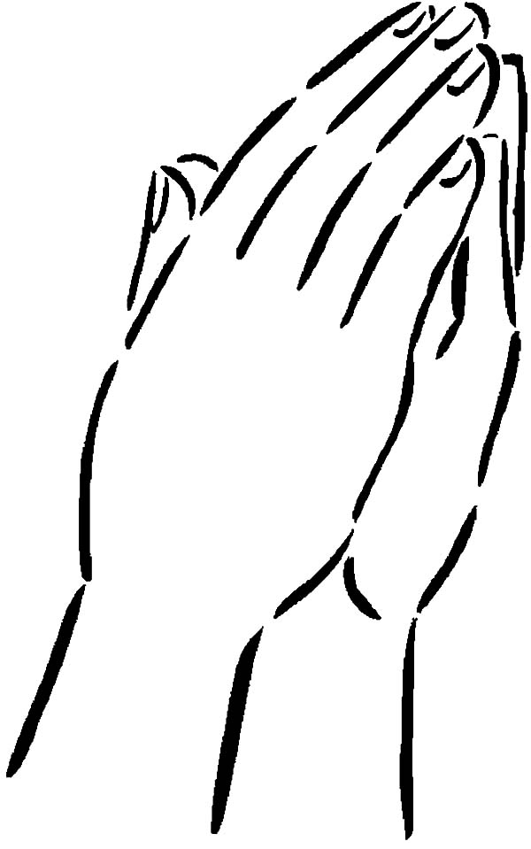 praying hands coloring page - praying hands coloring page