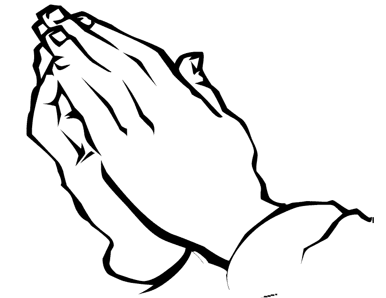 praying hands coloring page - bible coloring pages of praying