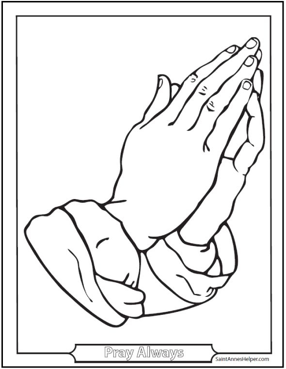 28 Praying Hands Coloring Page Pictures   FREE COLORING PAGES - Part 3