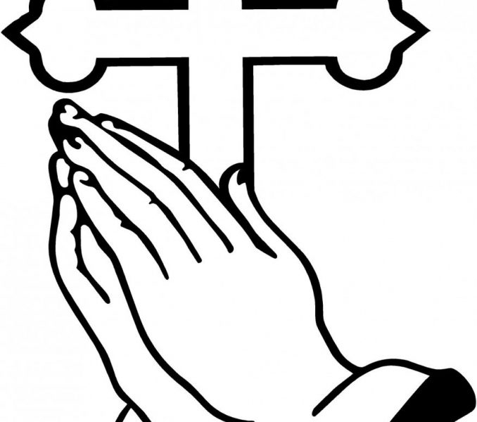 praying hands coloring page - praying coloring pages preschool