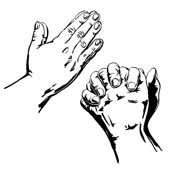 Praying Hands Coloring Page - Praying Hands Coloring Clipart Best