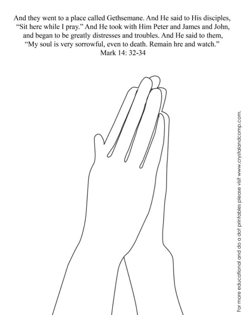 praying hands coloring page - praying hands coloring pages