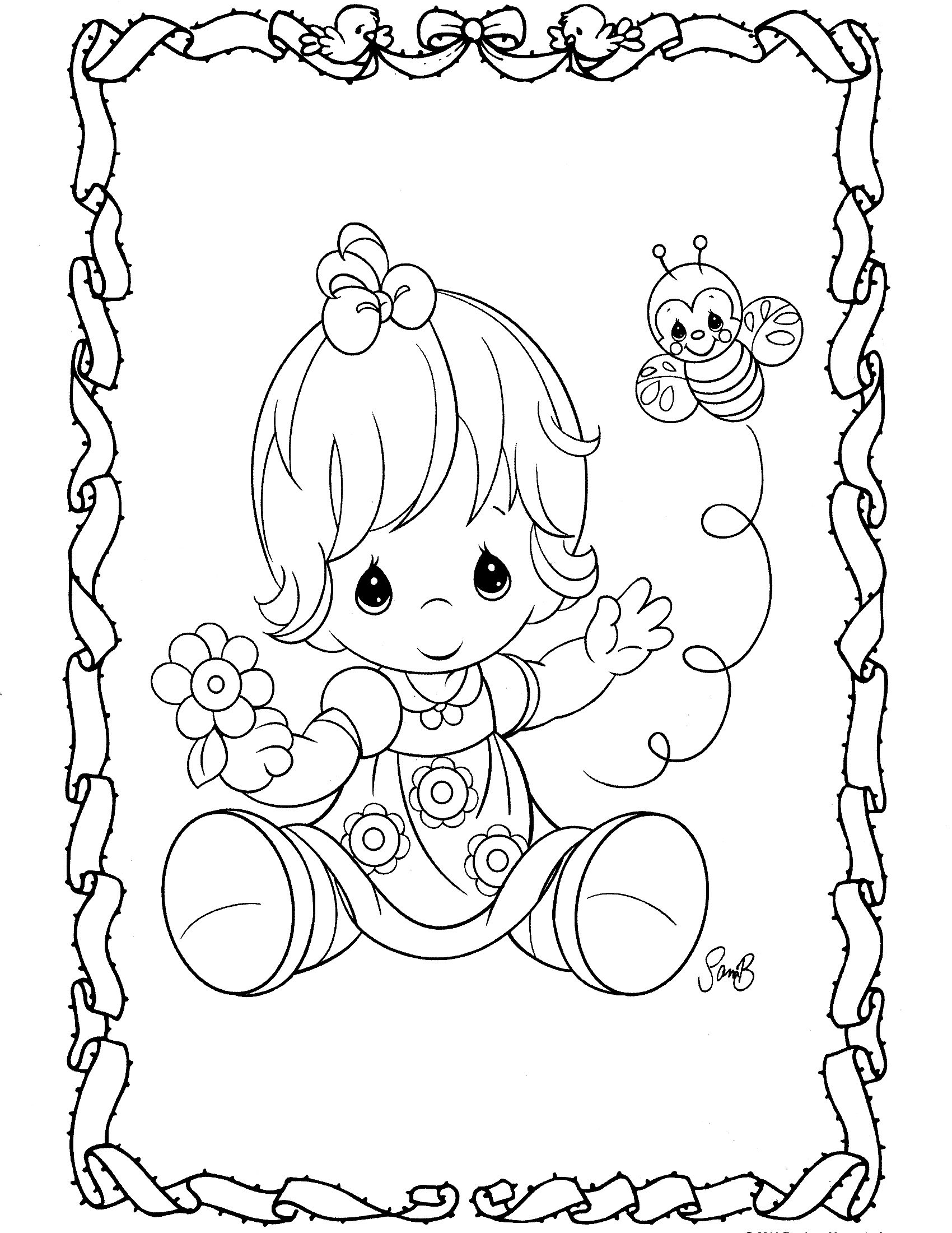 Precious Moments Coloring Pages - Precious Moments Coloring Page