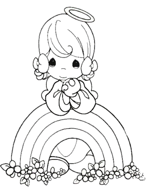 precious moments coloring pages - precious moments for love coloring