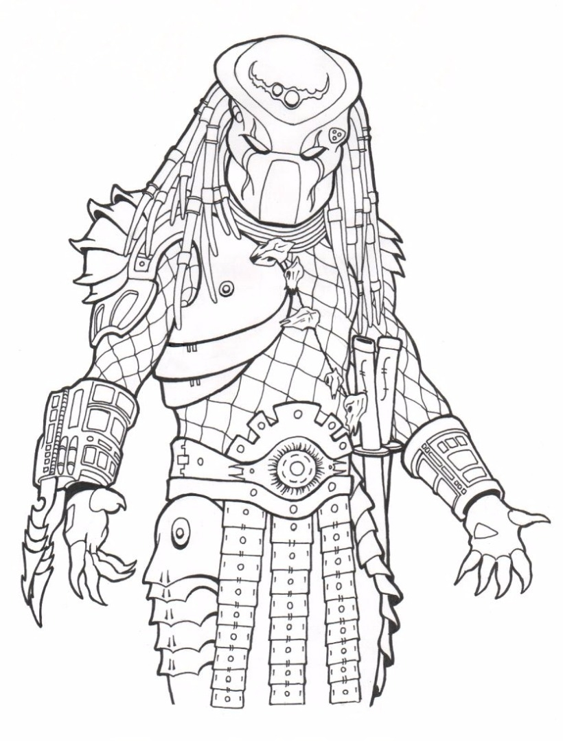 Predator Coloring Pages - Predator Coloring Pages
