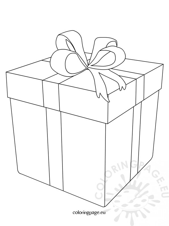 present coloring page - christmas present coloring page