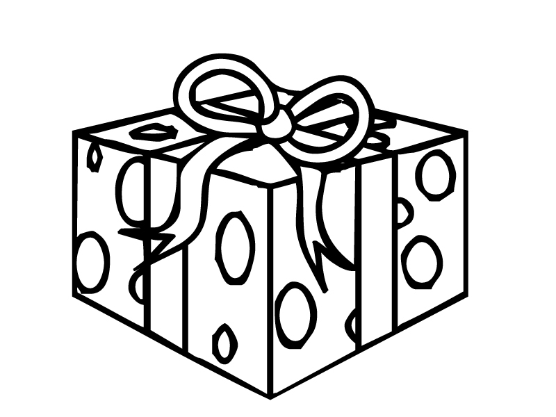 present coloring page - christmas present coloring pages