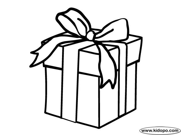 present coloring page - cool present