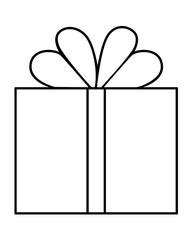 present coloring page - q= t
