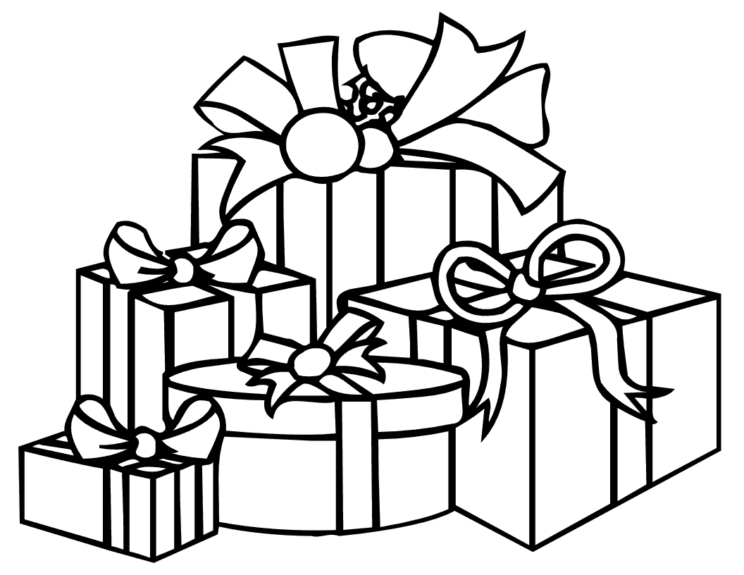present coloring page - presents
