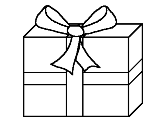 present coloring page - ribbon t box coloring pages
