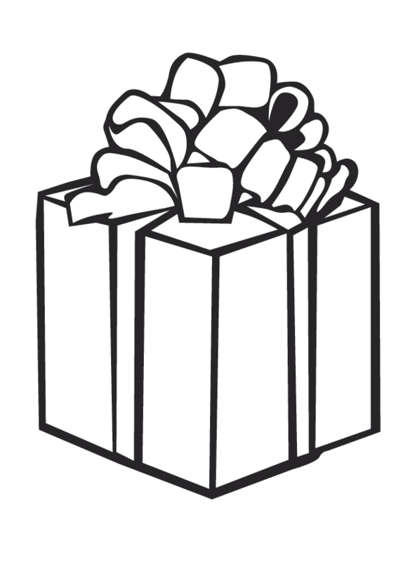 present coloring page - 2