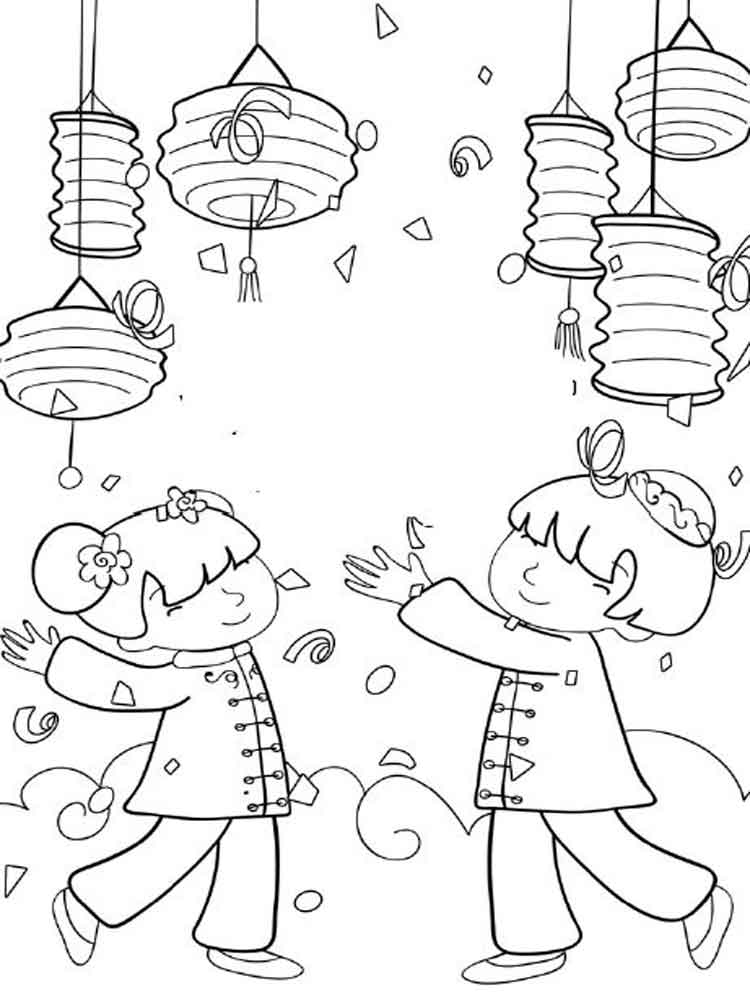 president coloring pages - chinese new year coloring pages