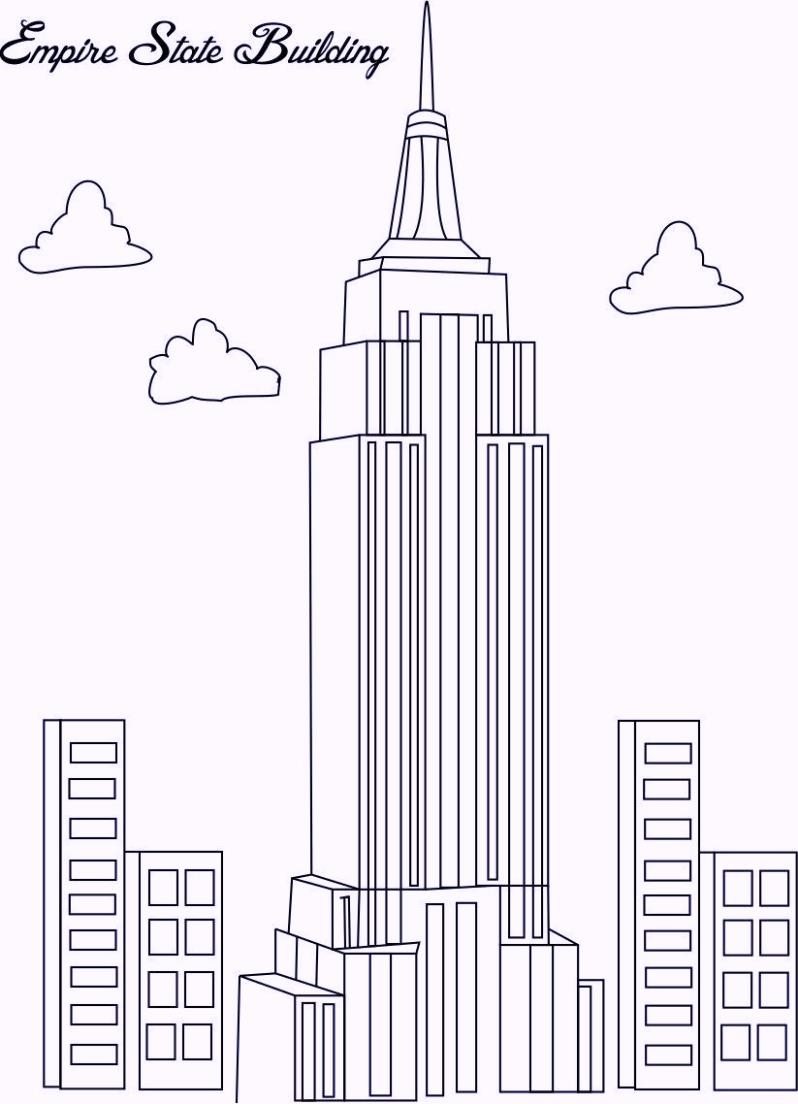 president coloring pages - landmarks in new york city coloring pages
