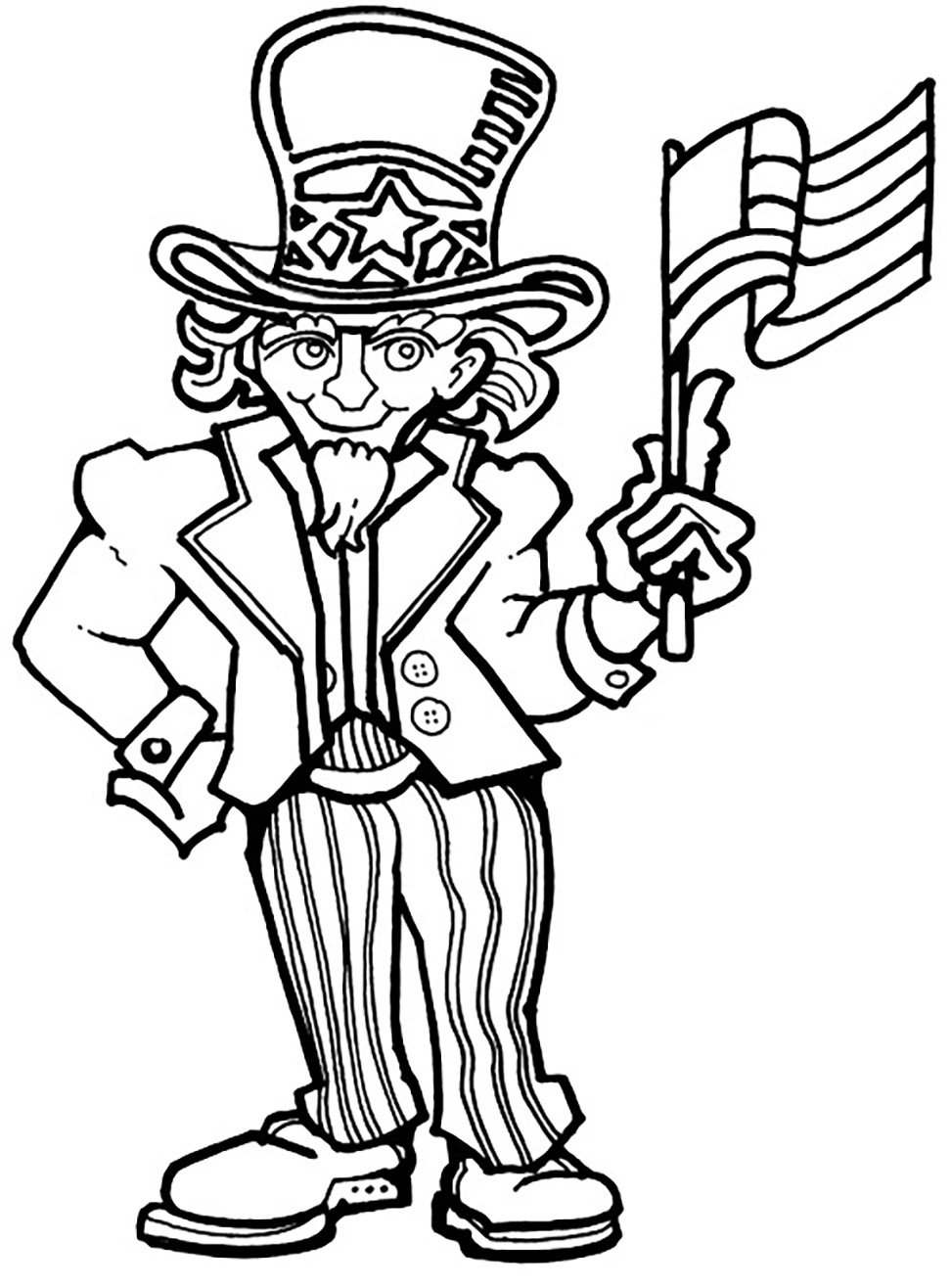 presidents day coloring pages - free 4th july coloring pages