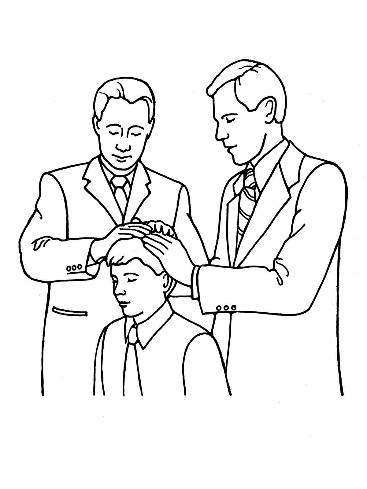 presidents day coloring pages - boy blessing priesthood lang=eng
