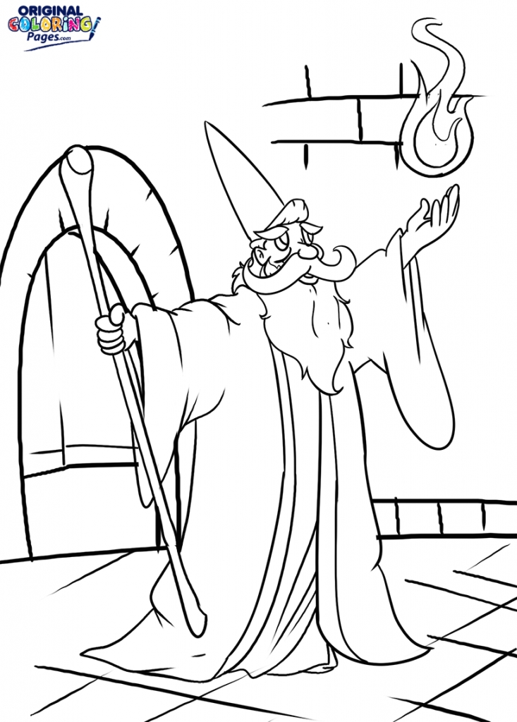 presidents day coloring pages - wizard spell coloring page
