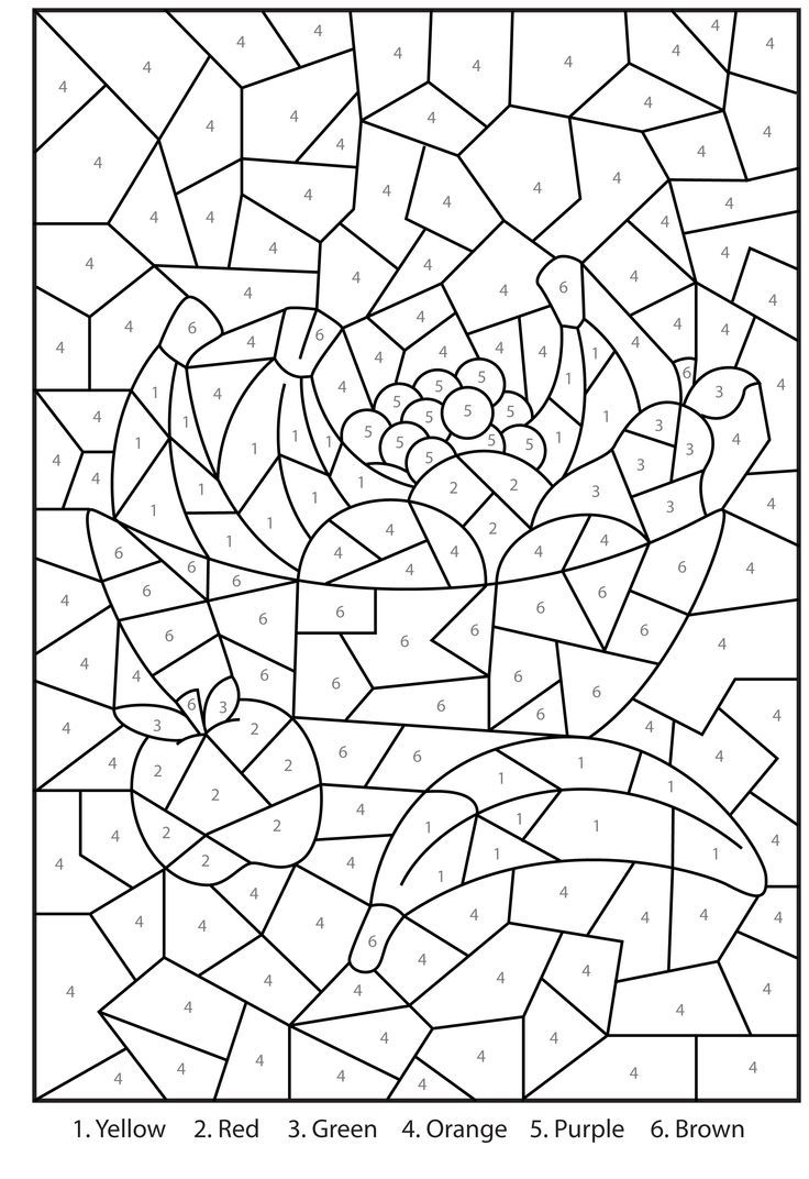 pretty coloring pages - difficult color by number printables